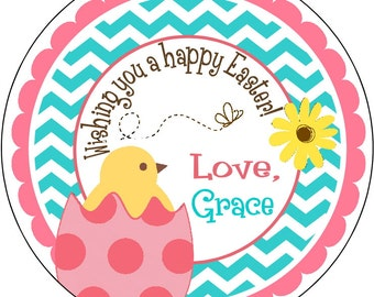 Easter Stickers, Easter Bunny Labels, Personalized Easter Stickers, Easter Labels