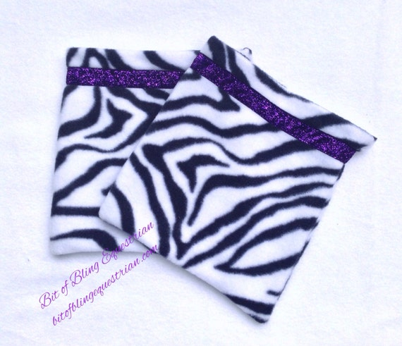 Animal Print English Stirrup Covers - assorted colours