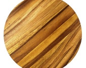 Lazy Susan -Three Oak Stained Wood Masterpiece - Free Shipping!