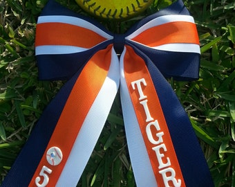 Softball bow personalized