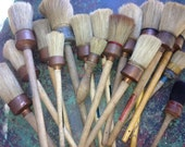 Reserved for ajardingirl Vintage French Pastry Brush Collection    15 pieces  Boar Bristle