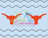 Faux Smocking Smock Smocked Longhorns Machine Embroidery Design
