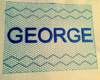 Faux Smocking Custom Personalized Name Machine Embroidery Design