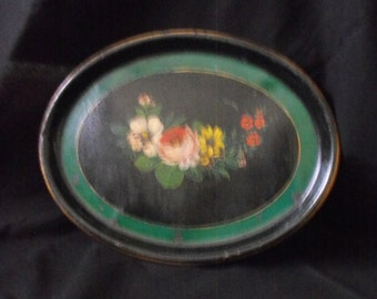 Reduced 20% - Victorian Tole Tray