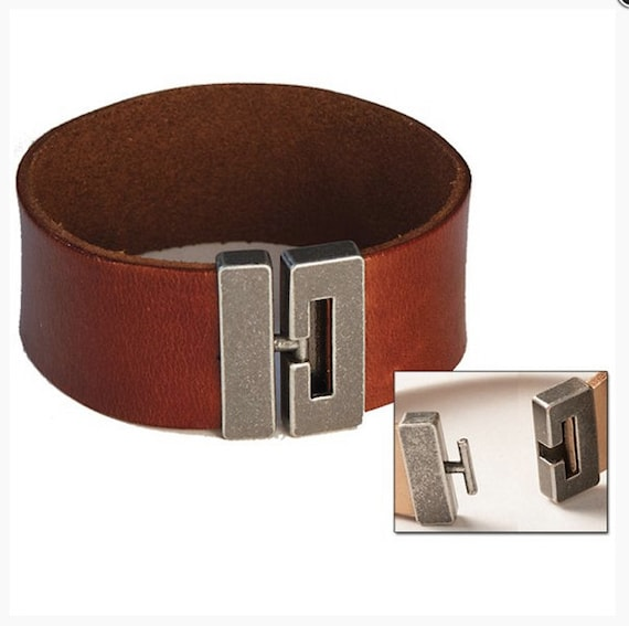 bracelet clasps for leather 1 leather bracelet clasp t bar groove connector 5 8 3417