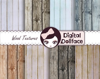 Rustic Wood Digital Paper, Wood Background Texture, Distressed Wood
