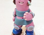 RESERVED for Sharon; Roller Derby Freature; custom handmade clay figurine