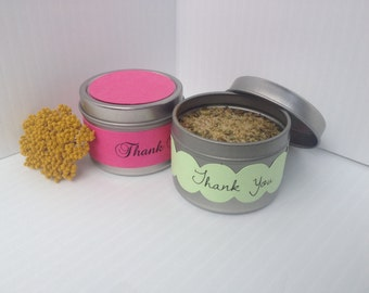 Spice Favor Tin with Solid Topper