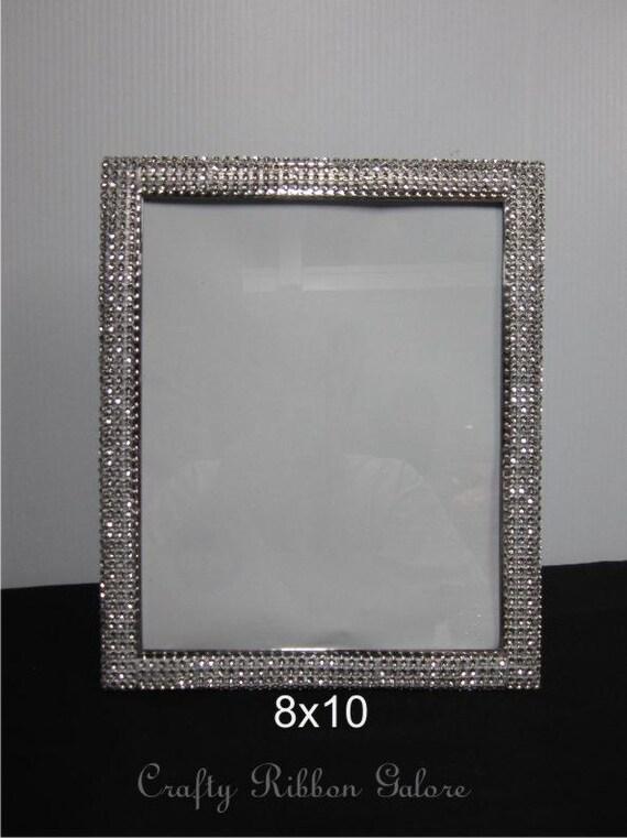 8x 10 Wedding Portrait Frame Silver Rhinestone - Wedding Sweethear ...