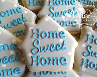 home/House warming/ Realtor gift to client/ Home sweet home cookies on