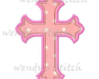 Cross applique machine embroidery design digital pattern