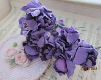12pcs-Paper flowers/NF09-Papercurly roses/