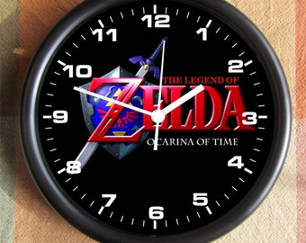 LEGEND OF ZELDA Ocarina Of Time Game Big 10 inch black wall clock  Ships Tomorrow