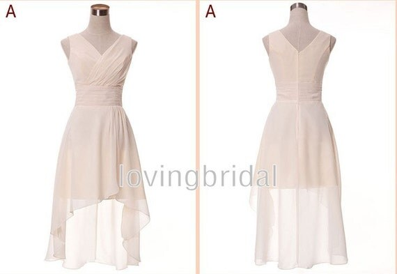 2014 Custom New Simple Short Chiffon Prom Dress By