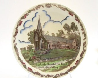 Vernon Kilns Plate Little Chapel of the Roses Glen Abbey Full Color