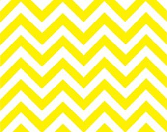 Yellow chevron craft  vinyl sheet - HTV or Adhesive Vinyl -  yellow and white large zig zag pattern   HTV126
