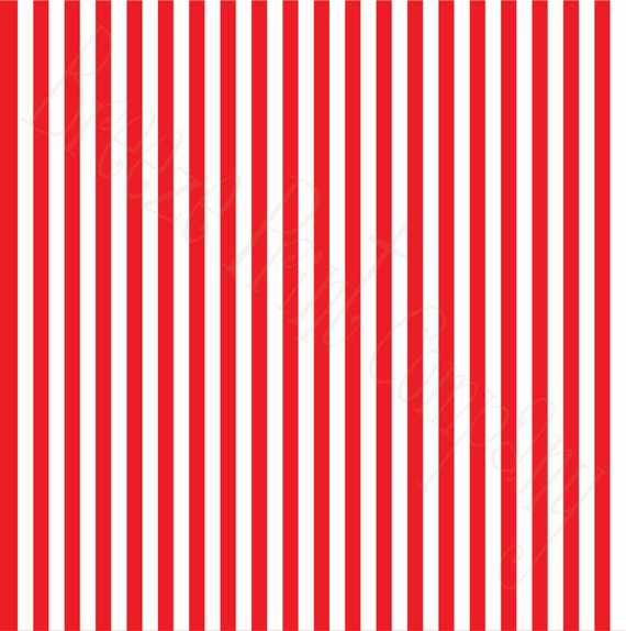 Striped Pattern Vinyl Sheet 12x12 Red And White Stripes