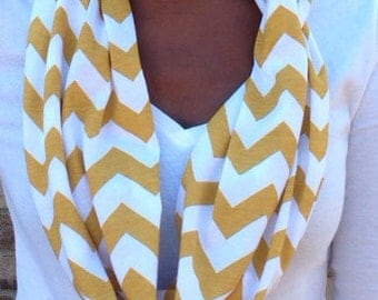 Mustard Yellow Cotton Jersey Infinity Scarf (Monogramming available)