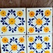 "35 Mexican Talavera Tiles / Hand painted 2 ""X 2"""