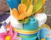 Kitchen Essentials Towel Cake - Bridal Shower or Housewarming Gift or Centerpiece