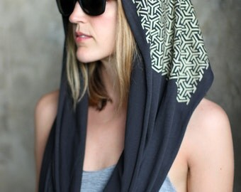DESERT SKIES Infinity Scarf - Burning Man Pattern - Screen Print Clothing