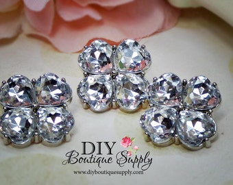 Crystal Buttons Rhinestone Flower center Buttons 23 mm Acrylic Rhinestone Embellishments Scrapbooking Headband Supplies 566035