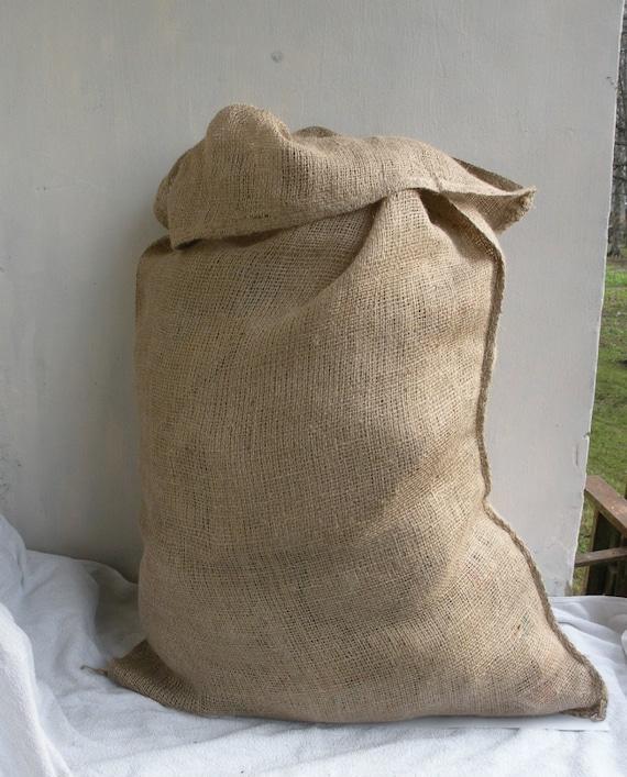 large burlap sack jute bag jute sack wedding sack by rigafashion. Black Bedroom Furniture Sets. Home Design Ideas