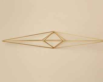 Himmeli Figure 2 || The Open Arms Sconce || Modern Minimalist Geometric Hanging Ornament, Mobile, and Air Plant Holder