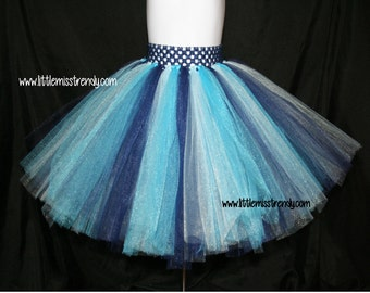 Navy Blue, Aqua, Turquoise and Light Blue Tutu Skirts, Children's Tutu Skirts, Newborn to 6T Tutus