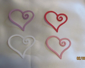 small swirl heart die cuts