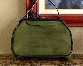 Forest Green Snap Top Purse