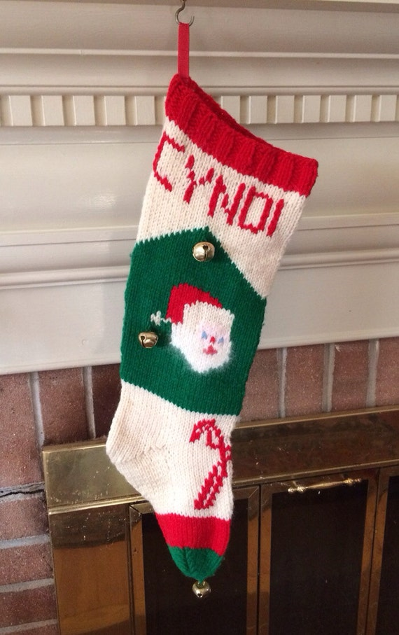 Vintage Personalized Custom Hand Knit Santa By Westhavenmarket