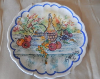 ITALY G. HATZO Hand Painted Plate