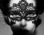 SALES!!! Halloween Mask, Embroidery Lace Mask, Black Mask, Lace Mask, Party Mask, Eye Mask
