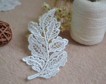 Sewing Victorian Embroidery Venice Lace Ivory Leaf Appliques 10 pcs-50 pcs per set