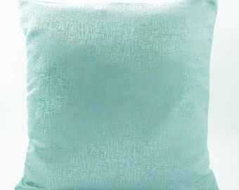 silk pillow cover 20x20 tiffany blue pillow made from abrasion textured luxury jacquard. Black Bedroom Furniture Sets. Home Design Ideas