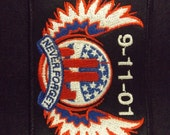 9-11 memorial  with US flag design never forget EMBROIDERED PATCH