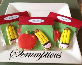 Apple for the teacher cookies.