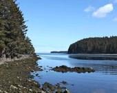 Photograph of a Beach at Low Tide, Coastal Photography, Beach Photography, Ocean Photography, Alaska Photo, Sea Art, Beach Photo, 4x6-24x36