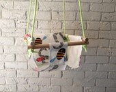 Canvas Childrens Swing and Pillow Indoor/Outdoor
