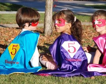 Birthday Super hero cape/Reversible Birthday cape /Custom Cape/Super Hero/Birthday bash cape-