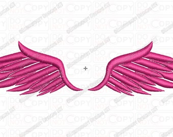 Wings 4 Embroidery Design in 3x3 4x4 and 5x7 Sizes