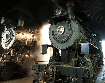 Steam Engine in the depot, Strasburg, PA