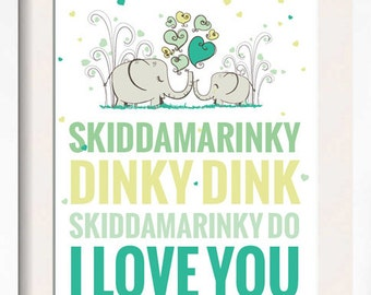 "Printable SKIDDAMARINKY DINKY DINK 8.5 X 11"" Sign"