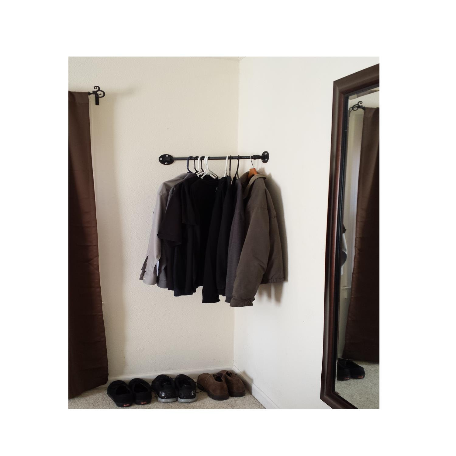 large clothing rack corner closet hang anything retail