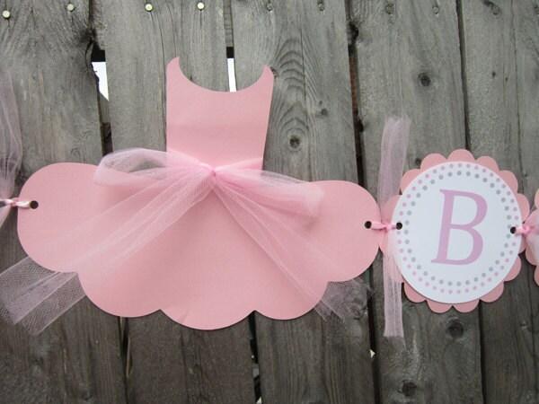 ballerina baby shower banner 3d tutu baby shower by craftycue