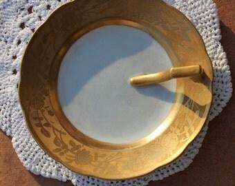 Elegant vintage gold trimmed  jewelry dish