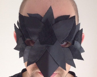 SALE: Leather Crow Raven Mask