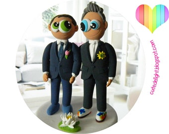 Gay cake topper Etsy