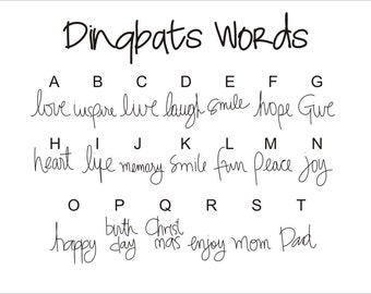 Words Dingbats